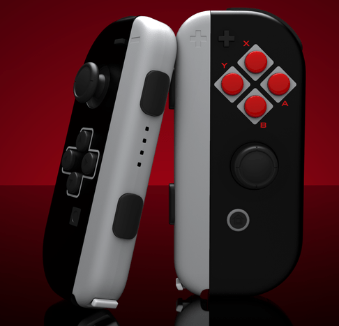 mandos de Nintendo Switch inspirados en NES