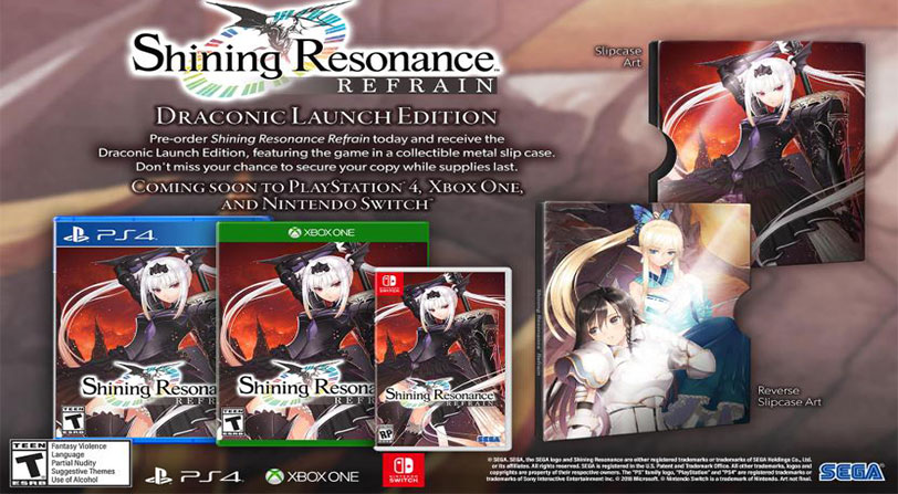 shining resonance refrain lanzamiento occidente