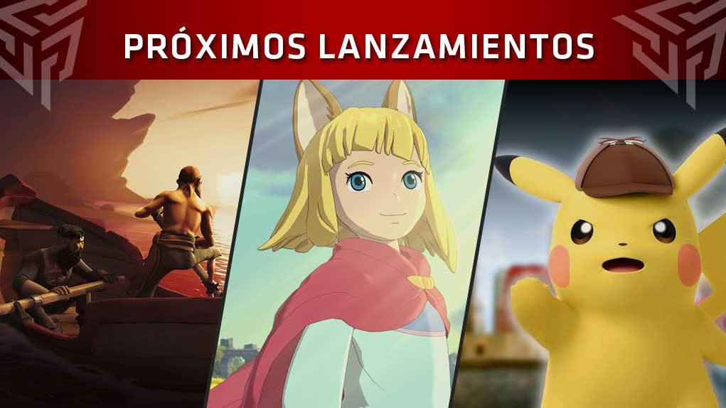 Próximos lanzamientos videojuegos PS4, XBOX ONE, PC, Switch
