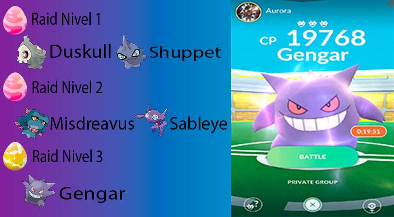 Incursiones de tipo Fantasma en Pokémon Go