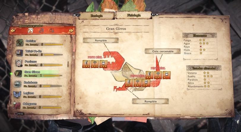 Guia Monstruos Monster Hunter World