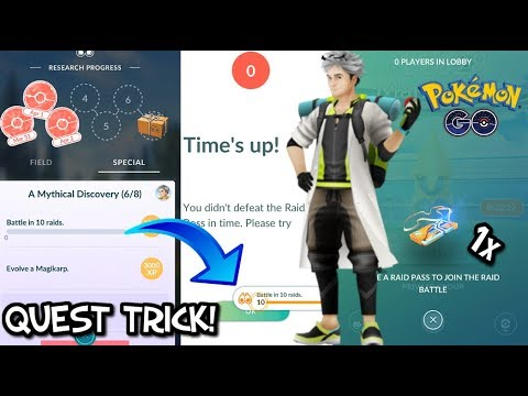 Pokemon Go 10 Raids 1 Pass
