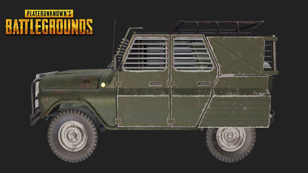 vehiculos blindados pubg