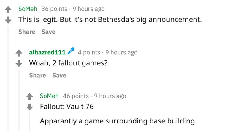Bethesda podría presentar un remastered para el E3 2018