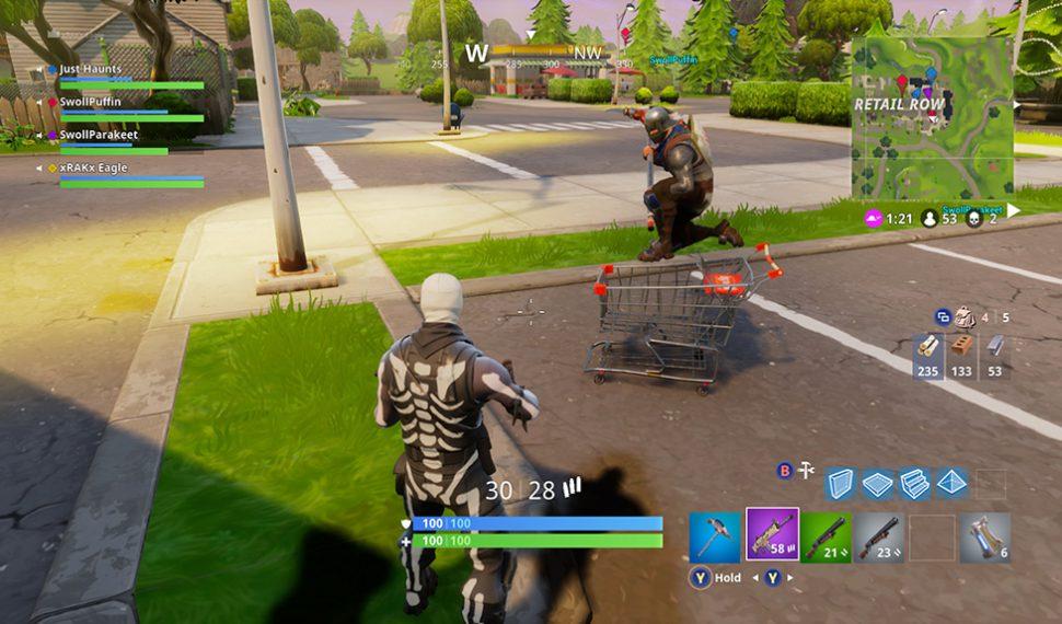 Fortnite añade un carrito de la compra como nuevo accesorio en Battle Royale