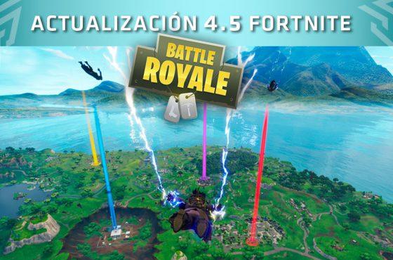 Actualización 4.5 de Fornite: Nuevas armas, Modo de Patio de juegos, Puntos Dobles…