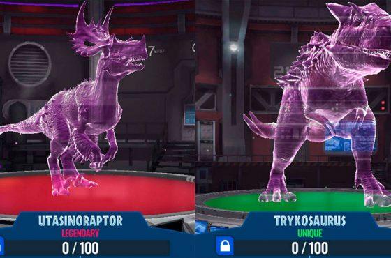 Nuevos Dinosaurios en Jurassic World Alive
