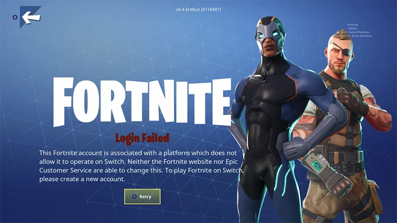 error fortnite nintendo switch