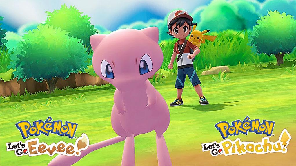 mew pokemon let's go pikachu eevee