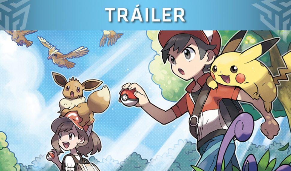 ¡Nuevo tráiler de Pokémon Let's Go, Pikachu! yLet's Go, Eevee!