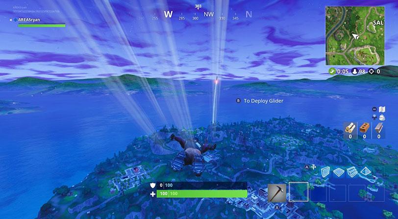 despegue cohete fortnite battle royale