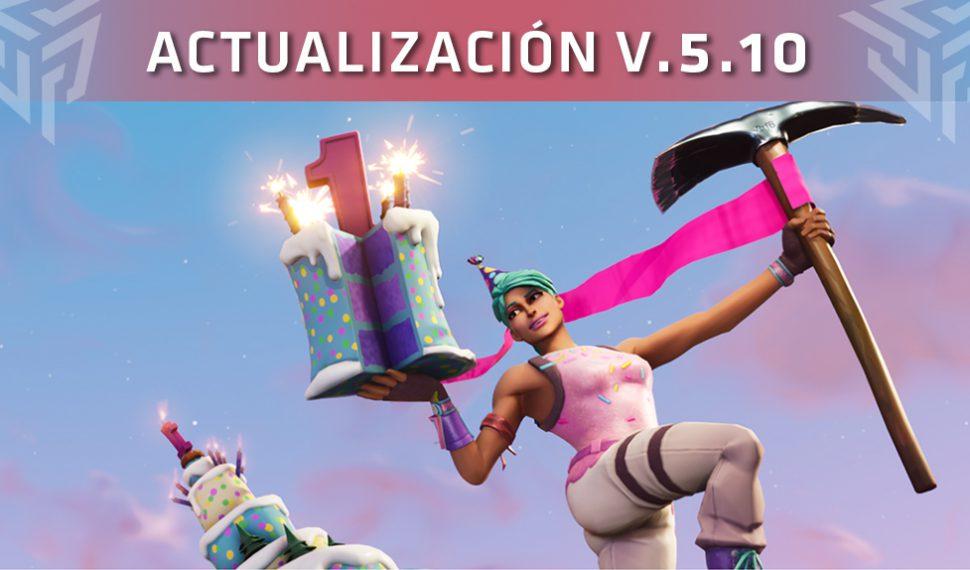 Fortnite recibe la actualización V.5.10: ¡Feliz cumpleaños, Fortnite!