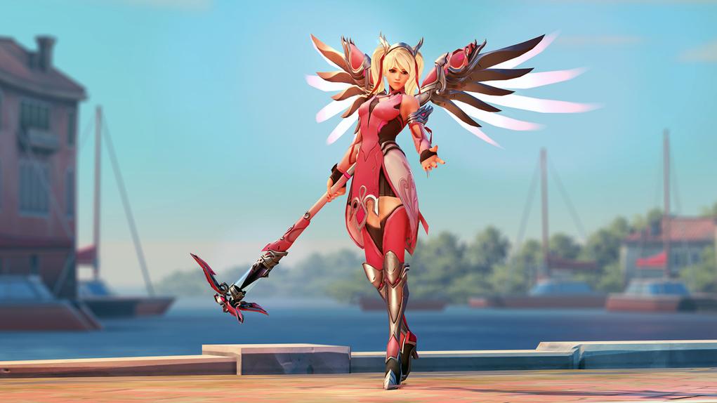 Overwatch Mercy Rosa