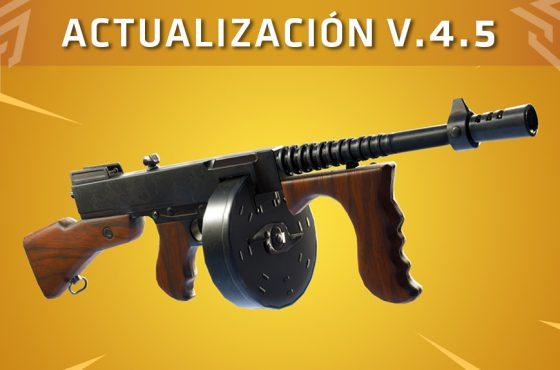 Fortnite recibe la actualización V.4.5: Tommy Gun, nuevas skins y corrección de errores
