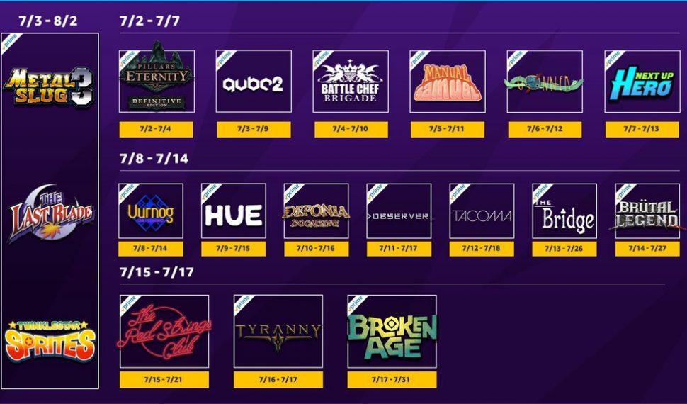 Estos son los juegos de julio del servicio Twitch Prime – Calidad y cantidad