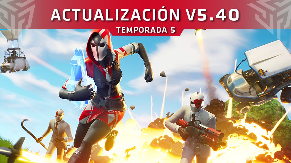 actualización V5.40 fortnite