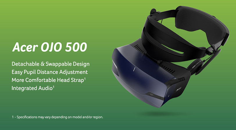 visor realidad virtual acer ojo 500