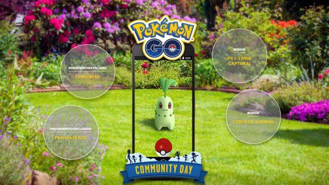 detalles dia comunidad chikorita pokemon go