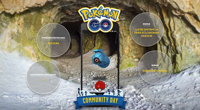 beldum dia comunidad octubre pokemon go