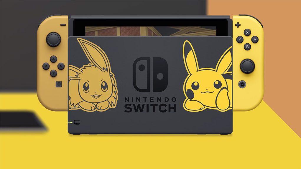 nintendo switch edicion pikachu eevee