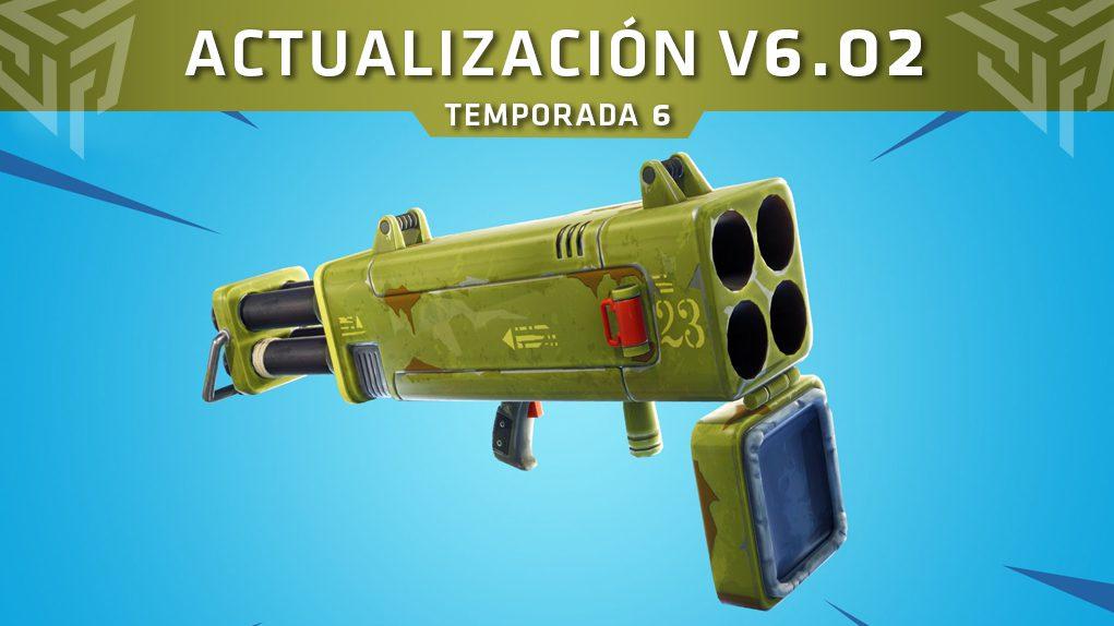 actualización V6.02 fortnite