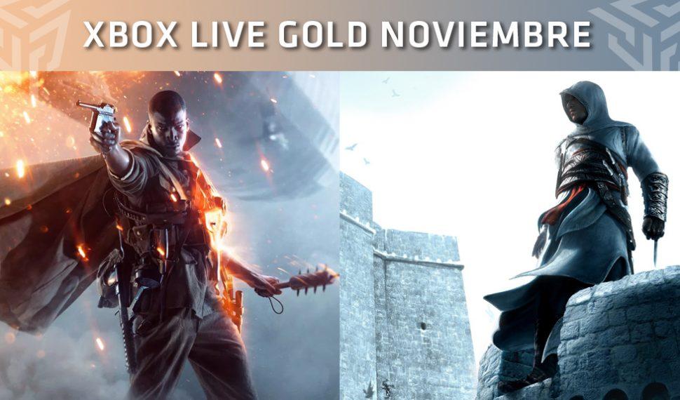 Xbox Live Gold: Juegos gratuitos durante el mes de Noviembre