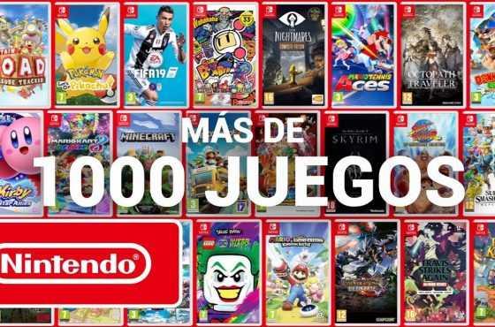 El catálogo de Nintendo Switch supera los 1.000 juegos
