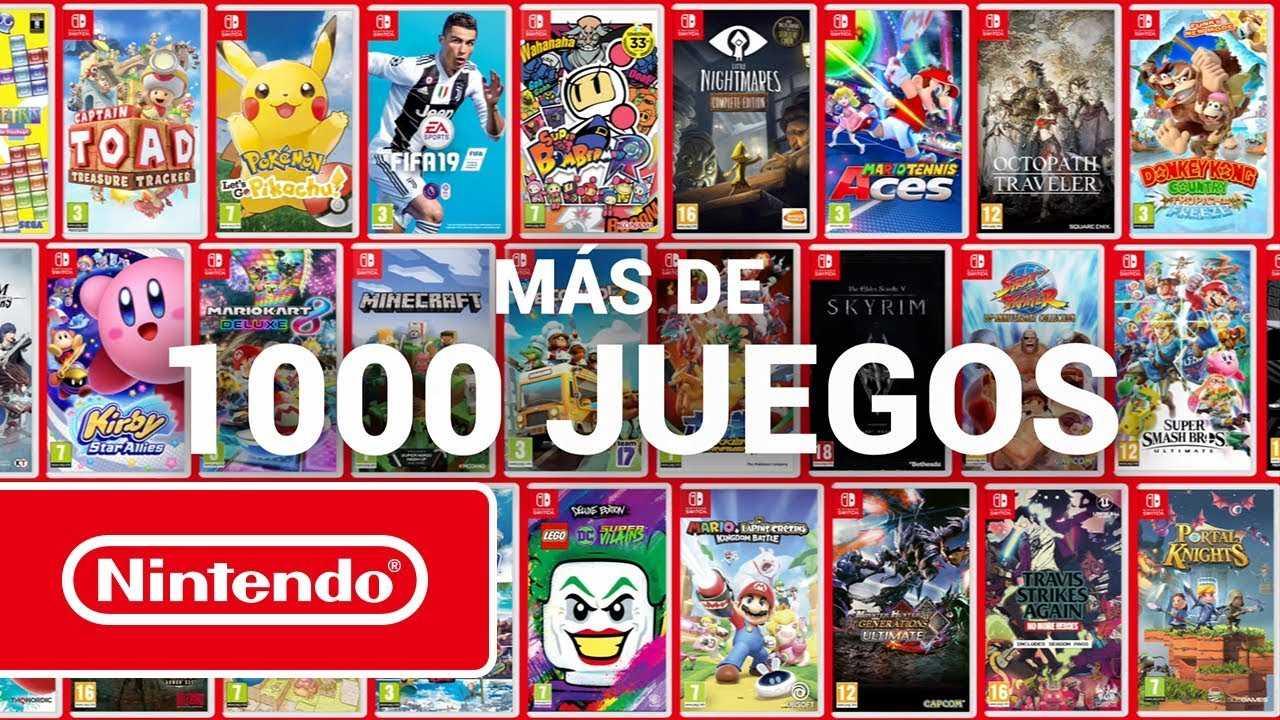 El Catalogo De Nintendo Switch Supera Los 1 000 Videojuegos