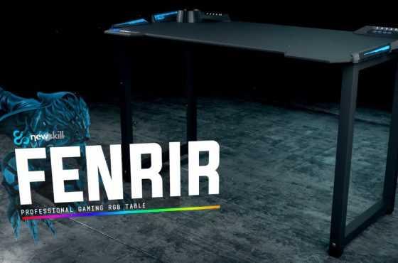 Newskill lanza su nueva mesa gaming RGB llamada Fenrir