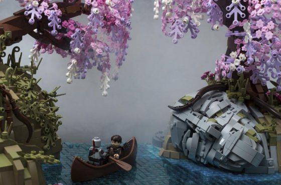 Recrean el Reino de Alfheim de God of War en LEGO