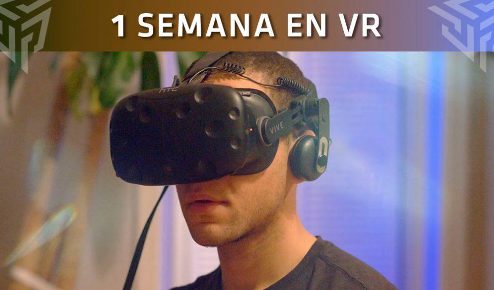 Una semana con gafas de Realidad Virtual: El reto que se ha propuesto este jugador