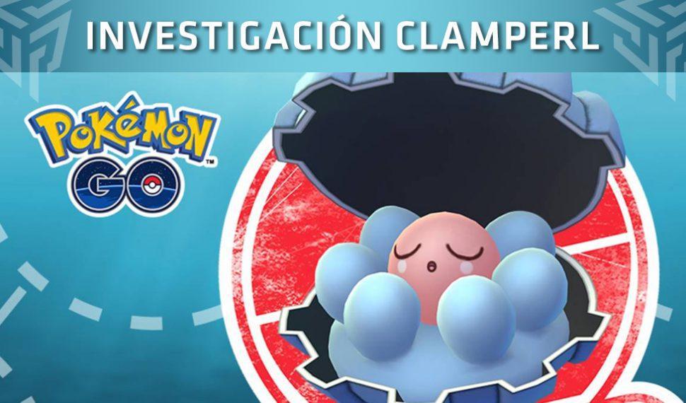 Pokémon Go recibe el evento temporal llamado Investigación Clamperl