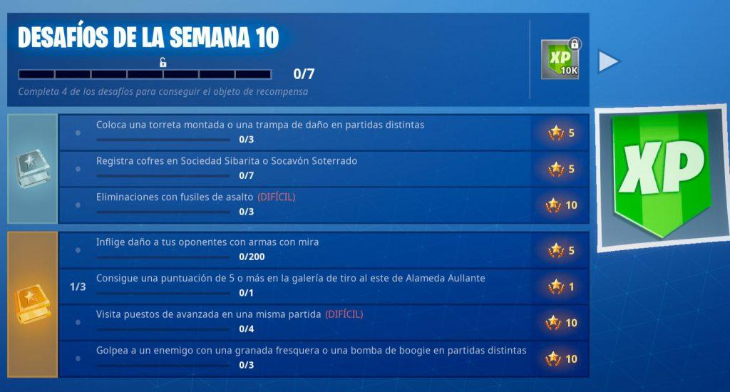 desafios semana 10 fortnite