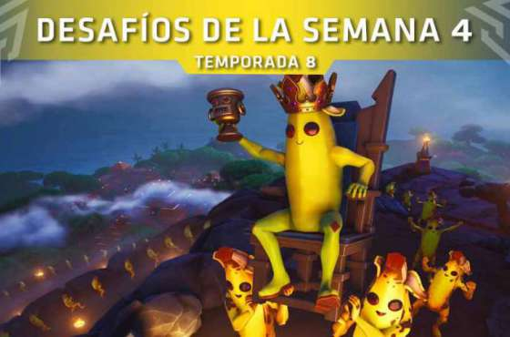 Desafíos de la Semana 4 de Fortnite: Battle Royale (Temporada 8)