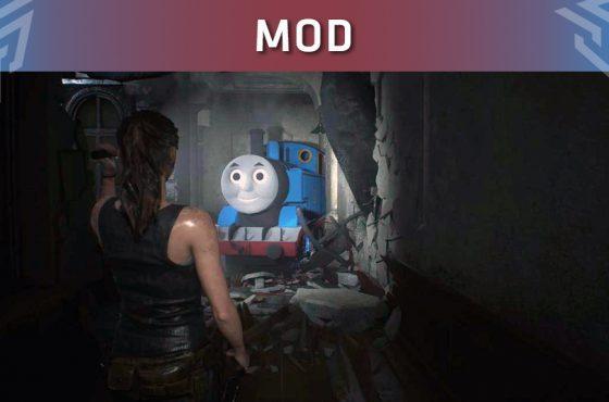 El mod que convierte a Mr. X de Resident Evil 2 Remake en Thomas el Tren