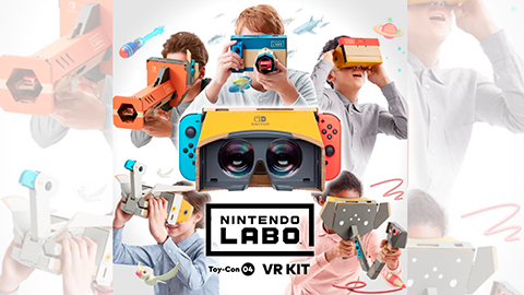 Super Mario Odyssey y Zelda Breath of the Wild se podrán jugar en Labo VR