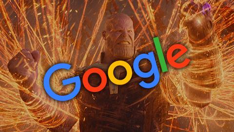 Thanos destroza Google con el último 'doodle' de Los Vengadores: Endgame
