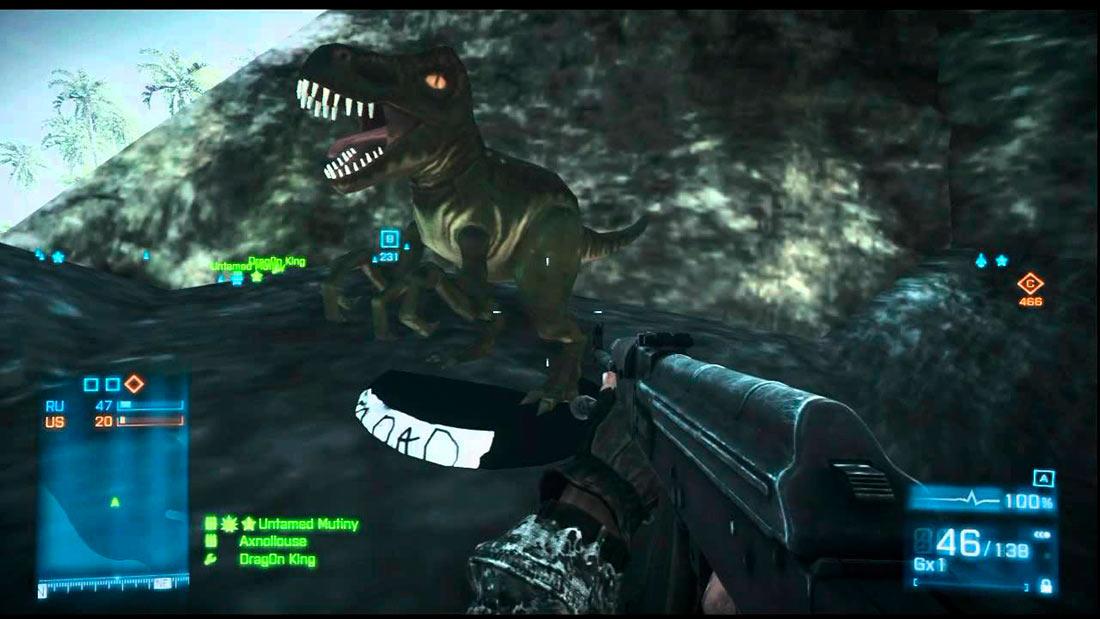 battlefield v dinosaurios