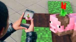 tráiler minecraft realidad aumentada