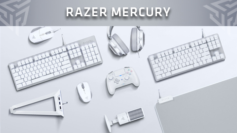 Razer presenta los nuevos periféricos blancos de la gama Mercury