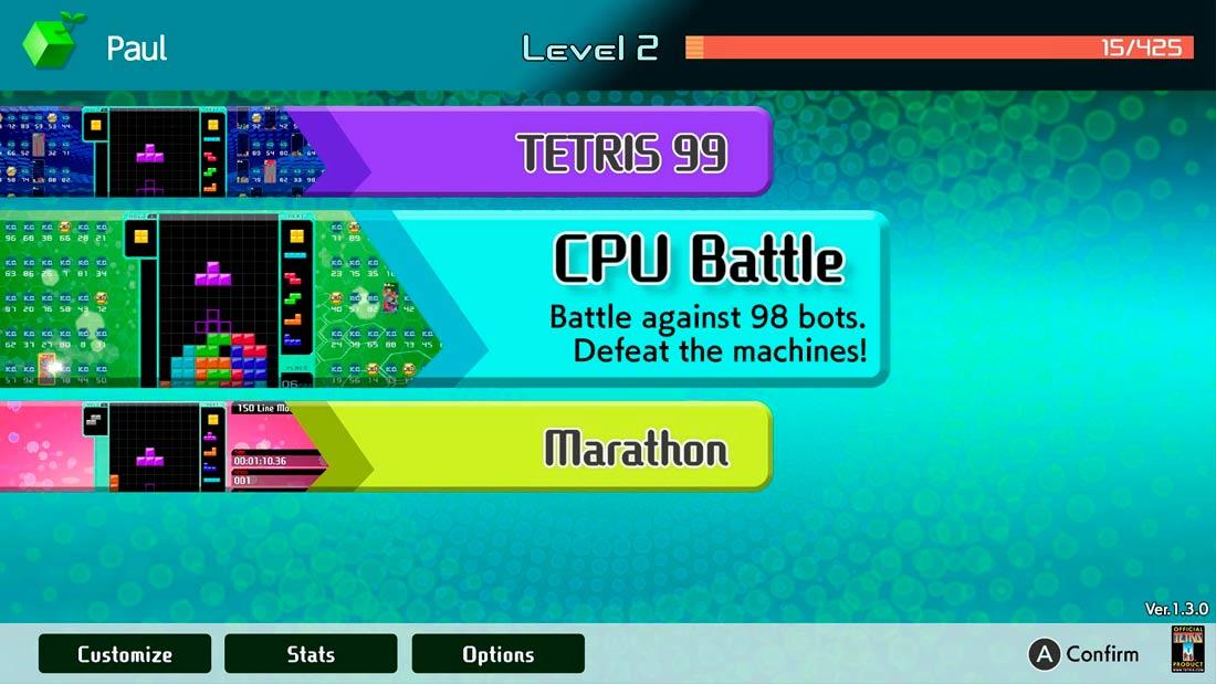 dlc tetris 99 offline