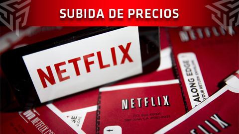 Netflix aumenta el precio de sus tarifas en España