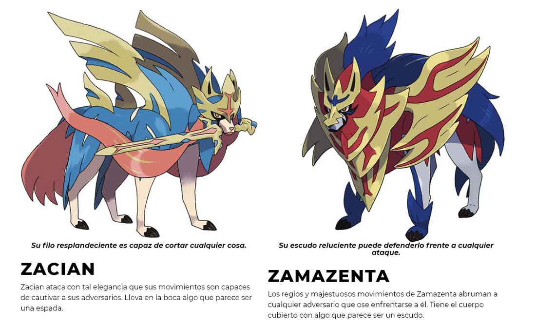 Zacian y Zamazenta