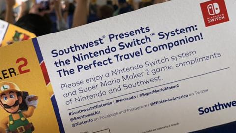 Nintendo regala consolas Nintendo Switch a los viajeros de un vuelo de Southwest Airlines
