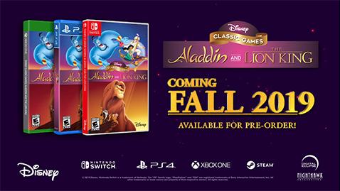 Aladdin y El Rey León tendrán versiones remasterizadas de sus videojuegos clásicos