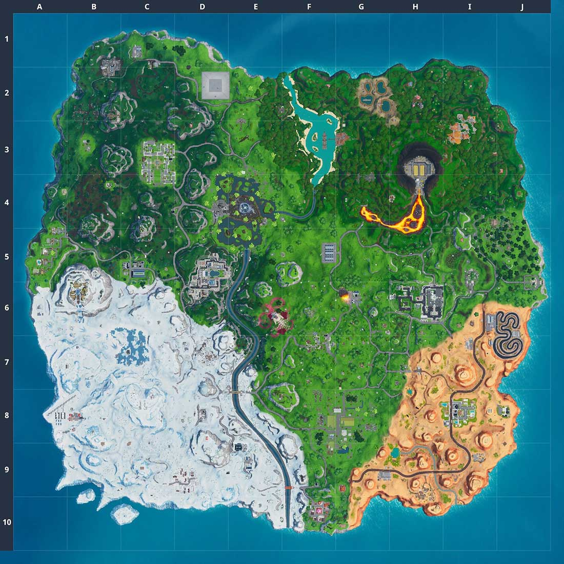 mapa temporada 10 fortnite