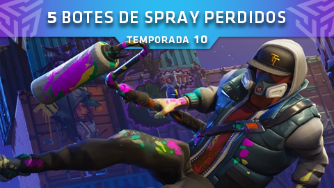 Fortnite: Battle Royale – Encuentra los 5 botes de spray perdidos