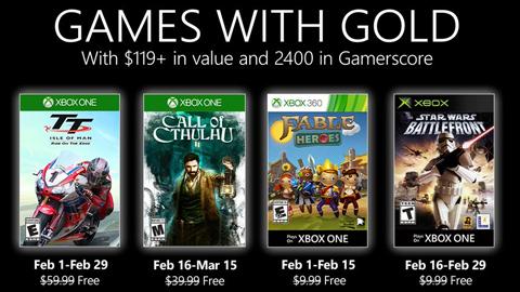 Xbox presenta los videojuegos gratuitos de Games with Gold para febrero (2020)
