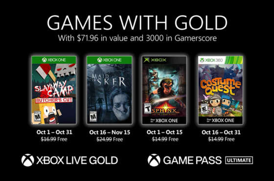 Xbox Games with Gold de octubre de 2020