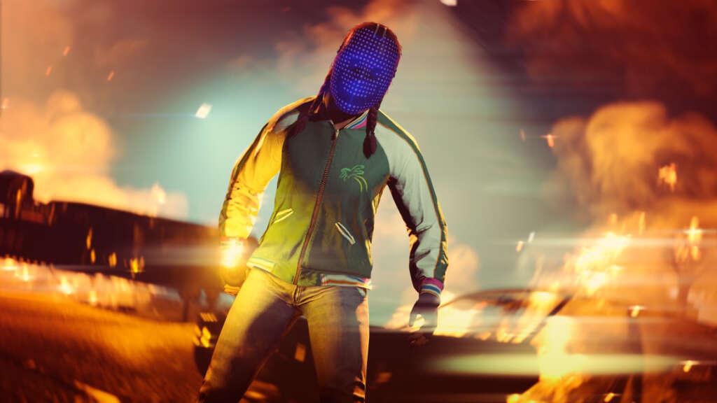 Blue Dot Tech Mask